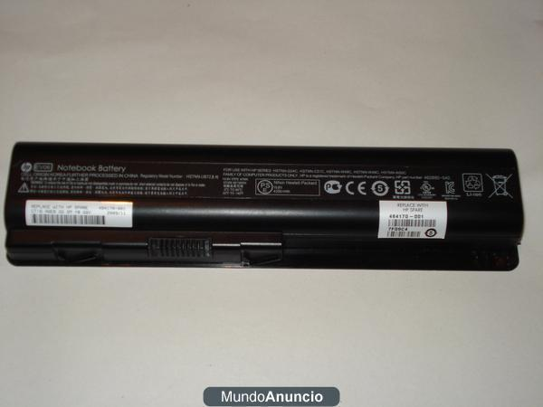 Batería y cargador para portail HP Pavilion dv6