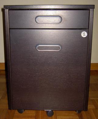 Cajonera c/ruedas 45 x 60 cm Negro Galant Poco uso