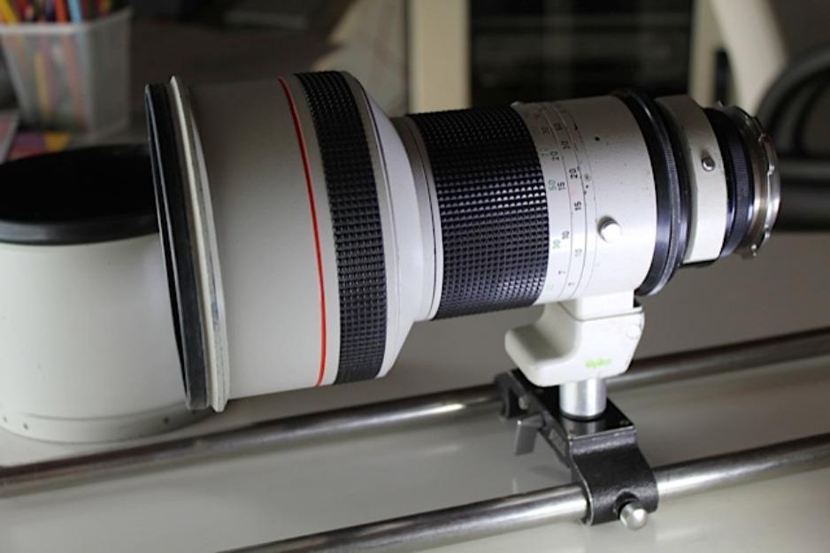Canon 300mm T2.8 con montura PL.Optex