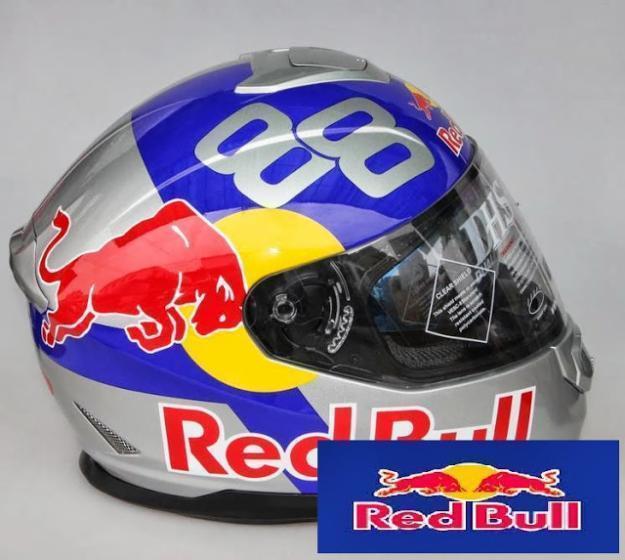 casco Moto red bull colores
