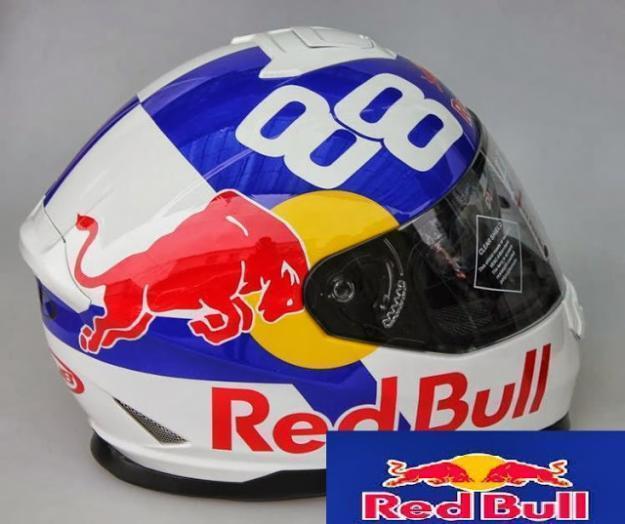 Casco red bull dual visor