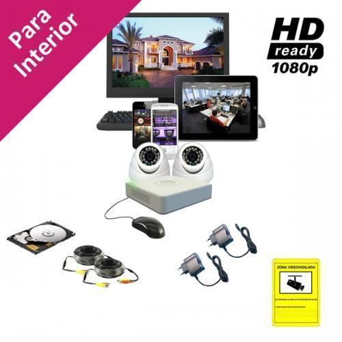 Equipo CCTV con 2 Cámaras Domo IR