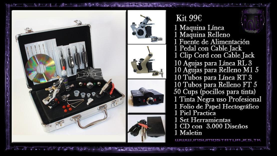 Kit para tatuajes 99€