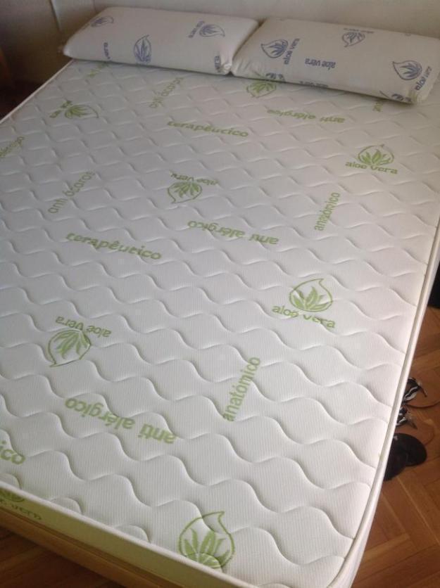 Pak cama completa hasta domicilio 90e somier + patas + colchon muy bueno