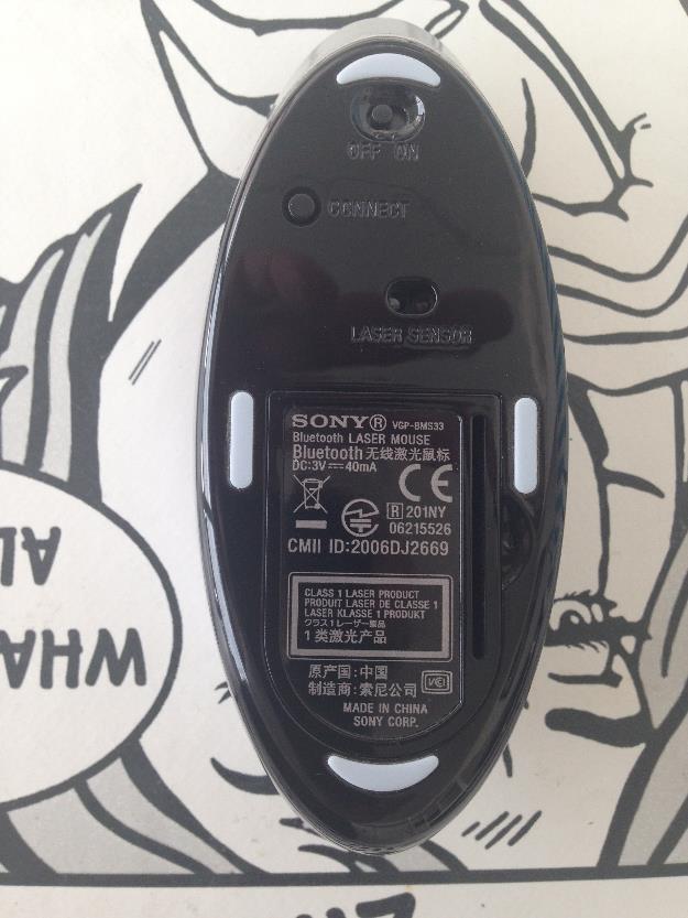 Ratón inalámbrico láser con tecnología Bluetooth® VAIO - VGP-BMS33