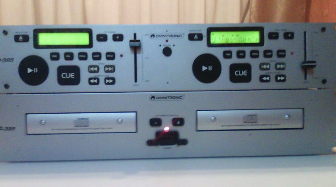 Doble-reproductor cd omnitronic para piezas (envío incluido en precio)