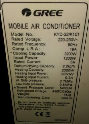 Aire acondicionado portatil calor/frio