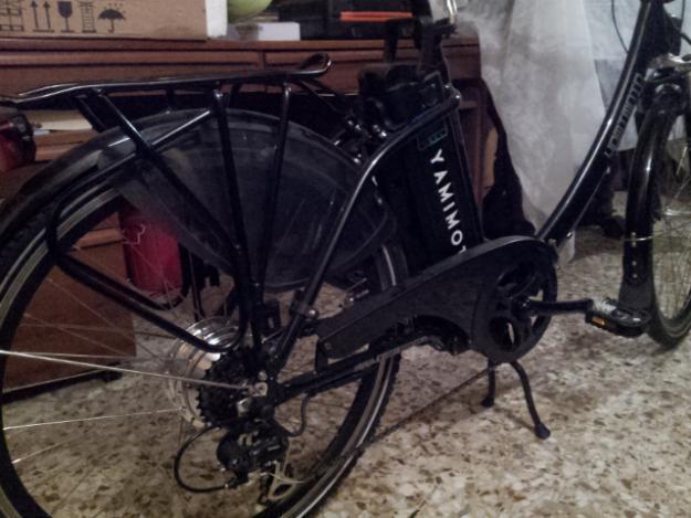 Bicicleta Electrica Marca Yamimoto Plegable  (modelo Desire - Negra)