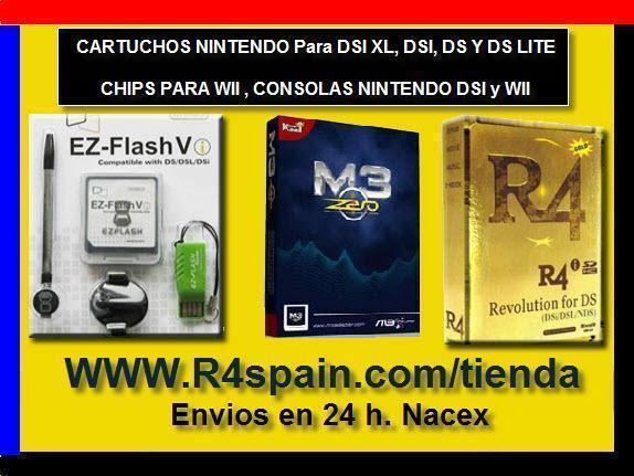 CARTUCHOS para NINTENDO DSI XL , DSI (M3I ZERO , R4I , EZFLASH )