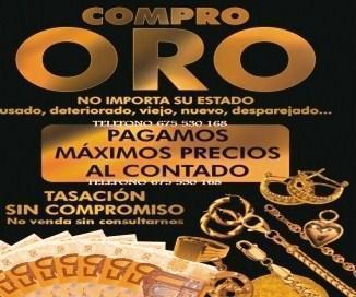 COMPRO ORO,PRECIOS DE MAYORISTA PARA PARTICULARES