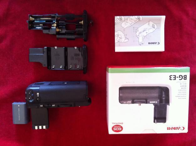 Empuñadura Canon BG-e3 (ORIGINAL) + bateria regalo