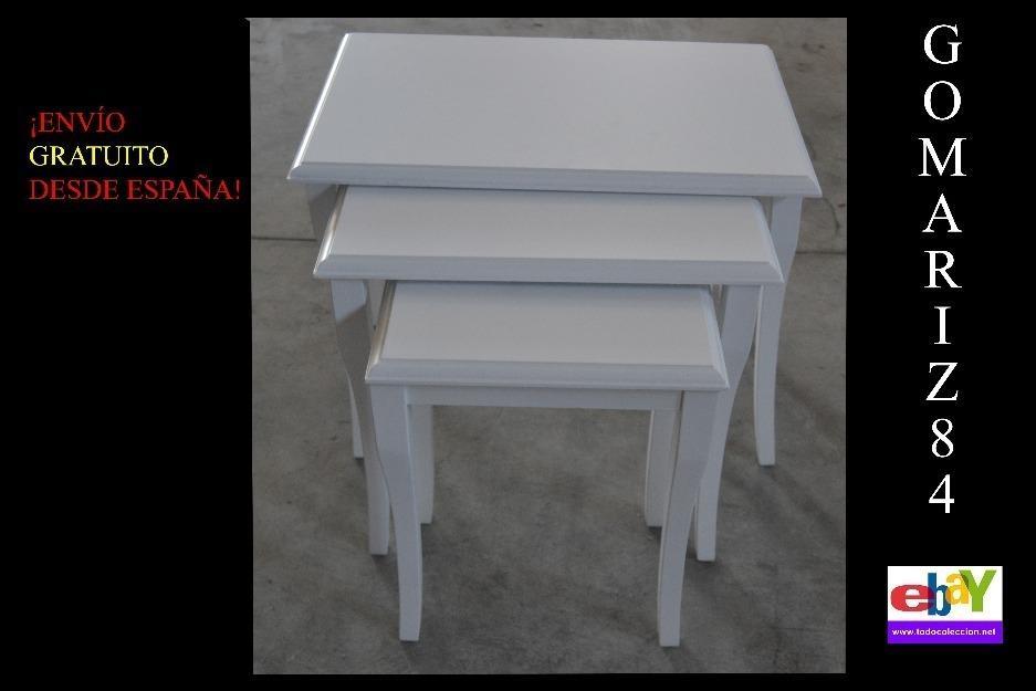 Exclusivas 3 mesas nido lacadas en blanco (producto nuevo)