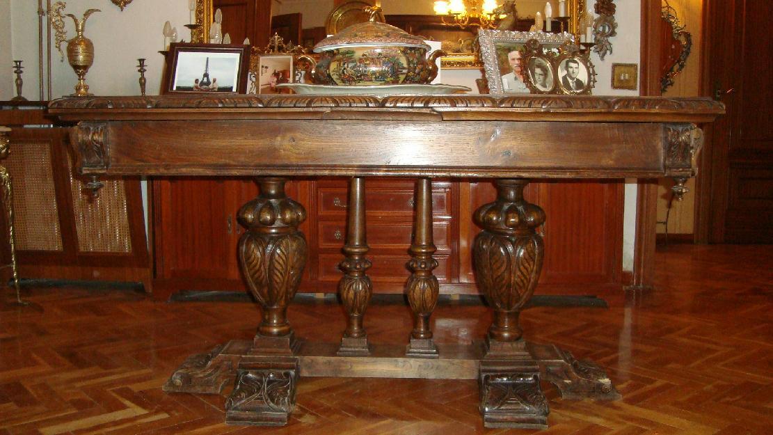 muebles antiguos de salon de madera maciza de nogal