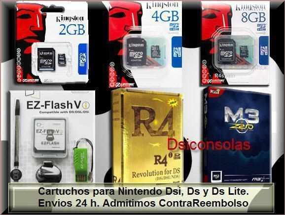 R4I :COMPRAR CARTUCHOS NINTENDO DSI, DSI XL