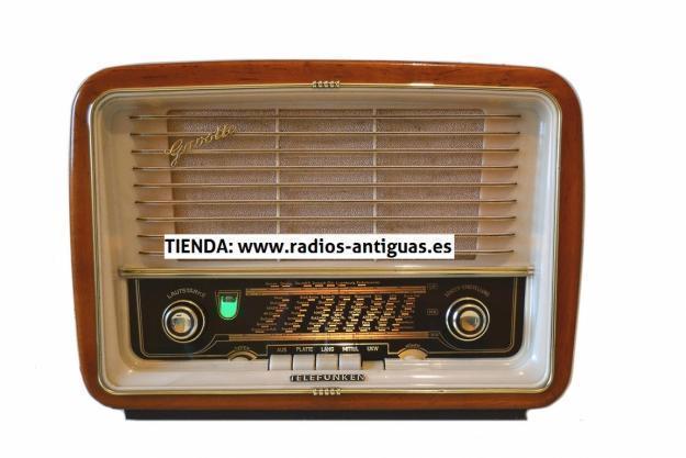 Radio antigua. Tienda de radios antiguas. 100% reparadas y garantizadas