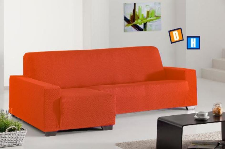 Fundas de sofá chaise longue con tejido multielástico
