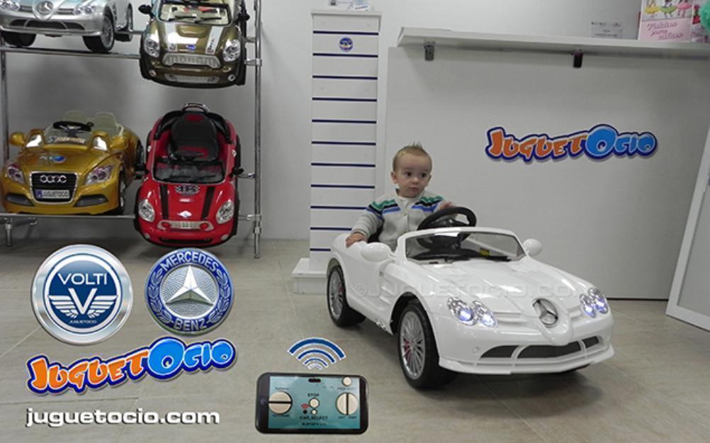Coche eléctrico Mercedes para niño con control paterno marca VOLTI