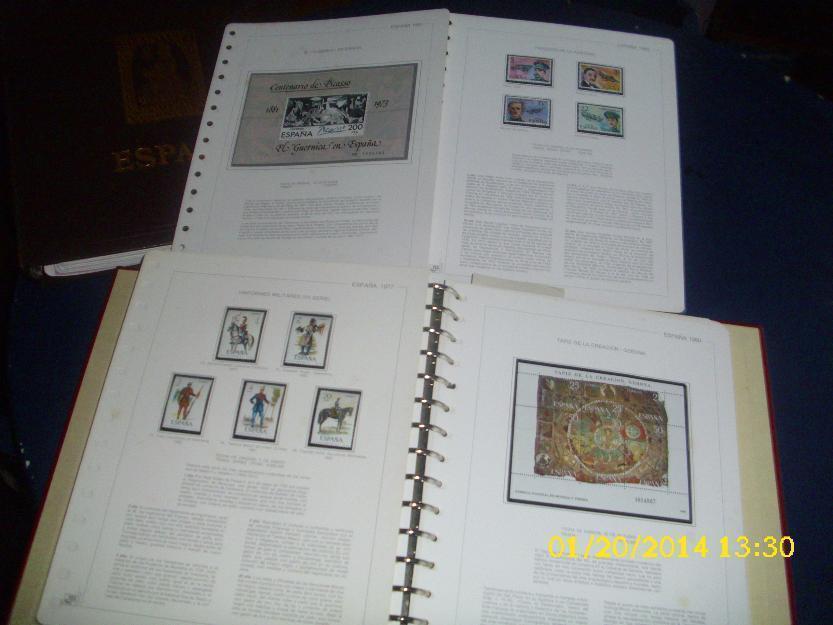 tres colecciones sellos España años 1975 a 1995 completas y nuevos