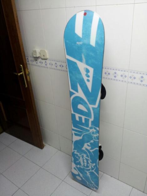 tabla, fijaciones y botas snowboard