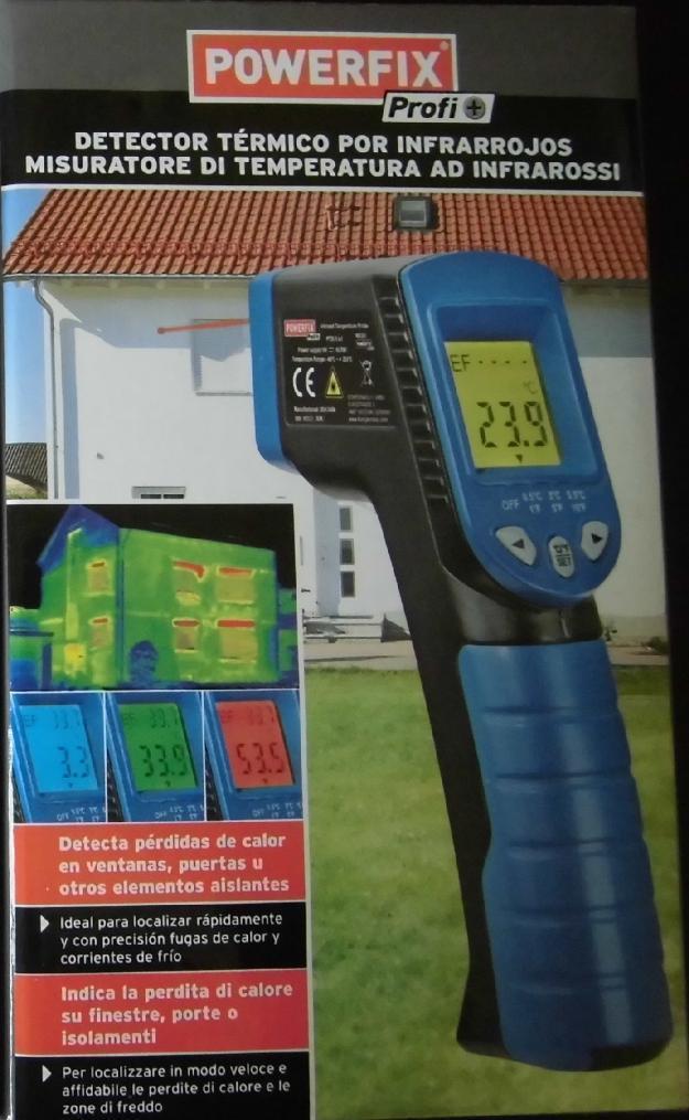 Detector/Medidor térmico por infrarrojos y láser