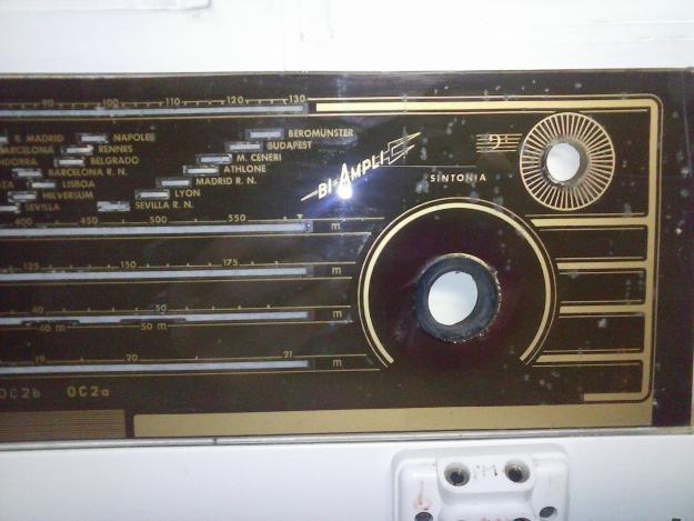 CRISTAL DE DIAL DE RADIO ANTIGUA PHILIPS